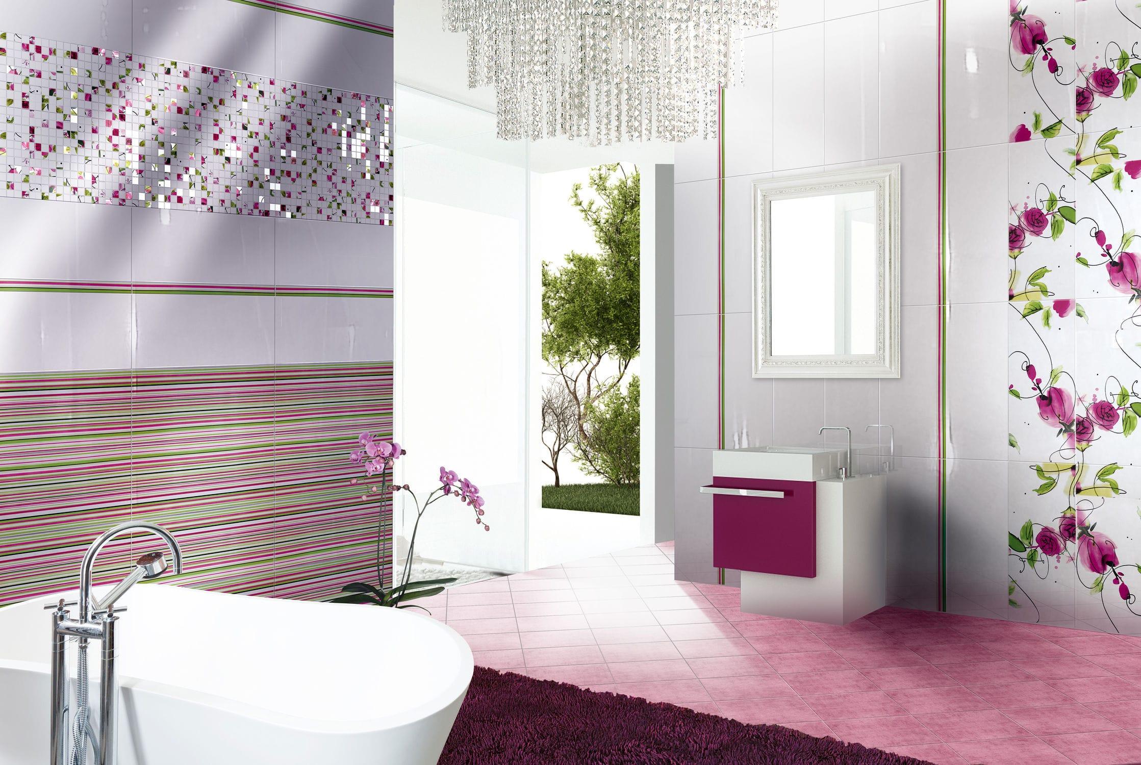 Bathroom tile / wall / for floors / porcelain stoneware ...