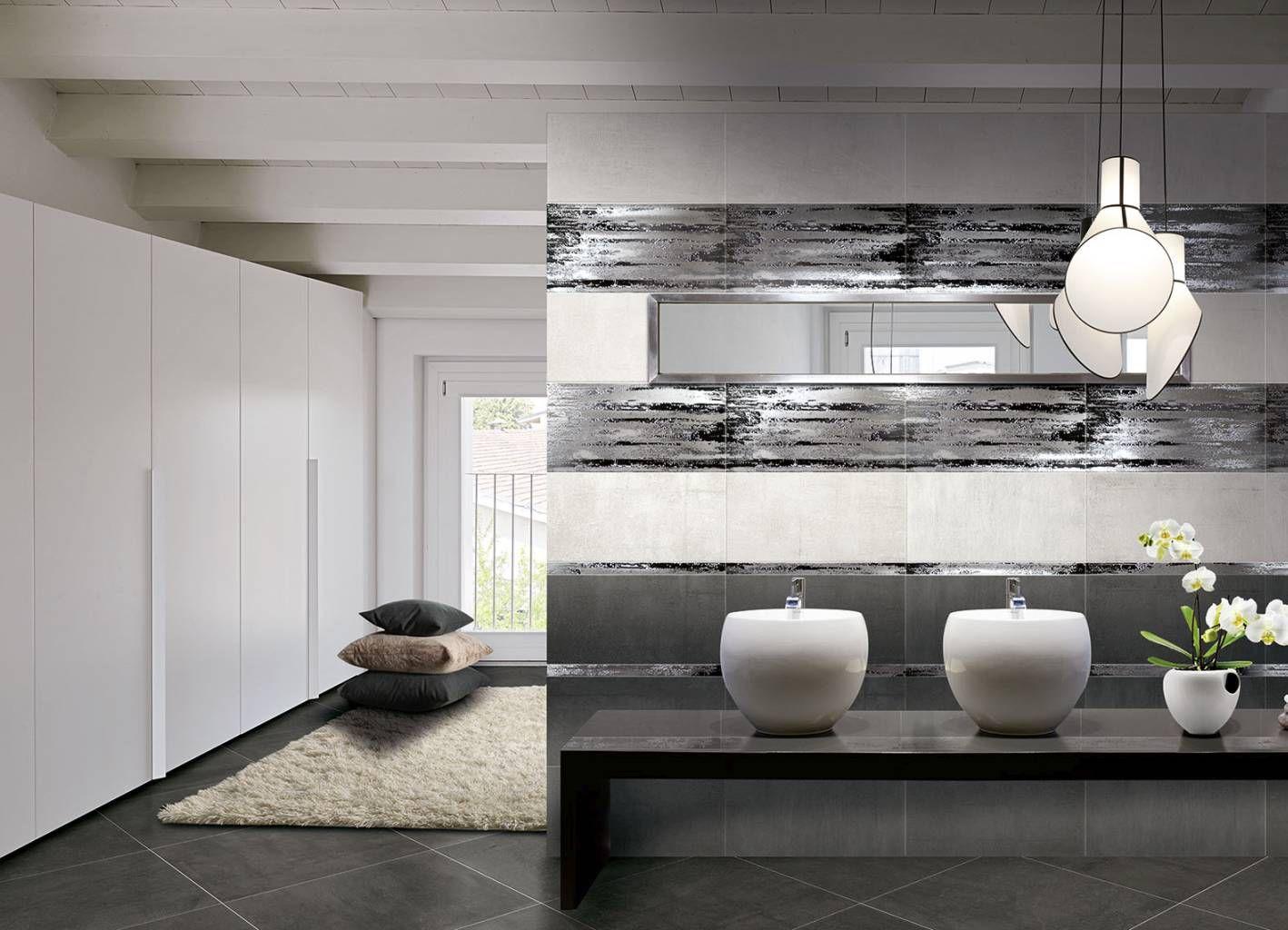 Indoor tile / floor / for floors / porcelain stoneware - CONCRETE ...