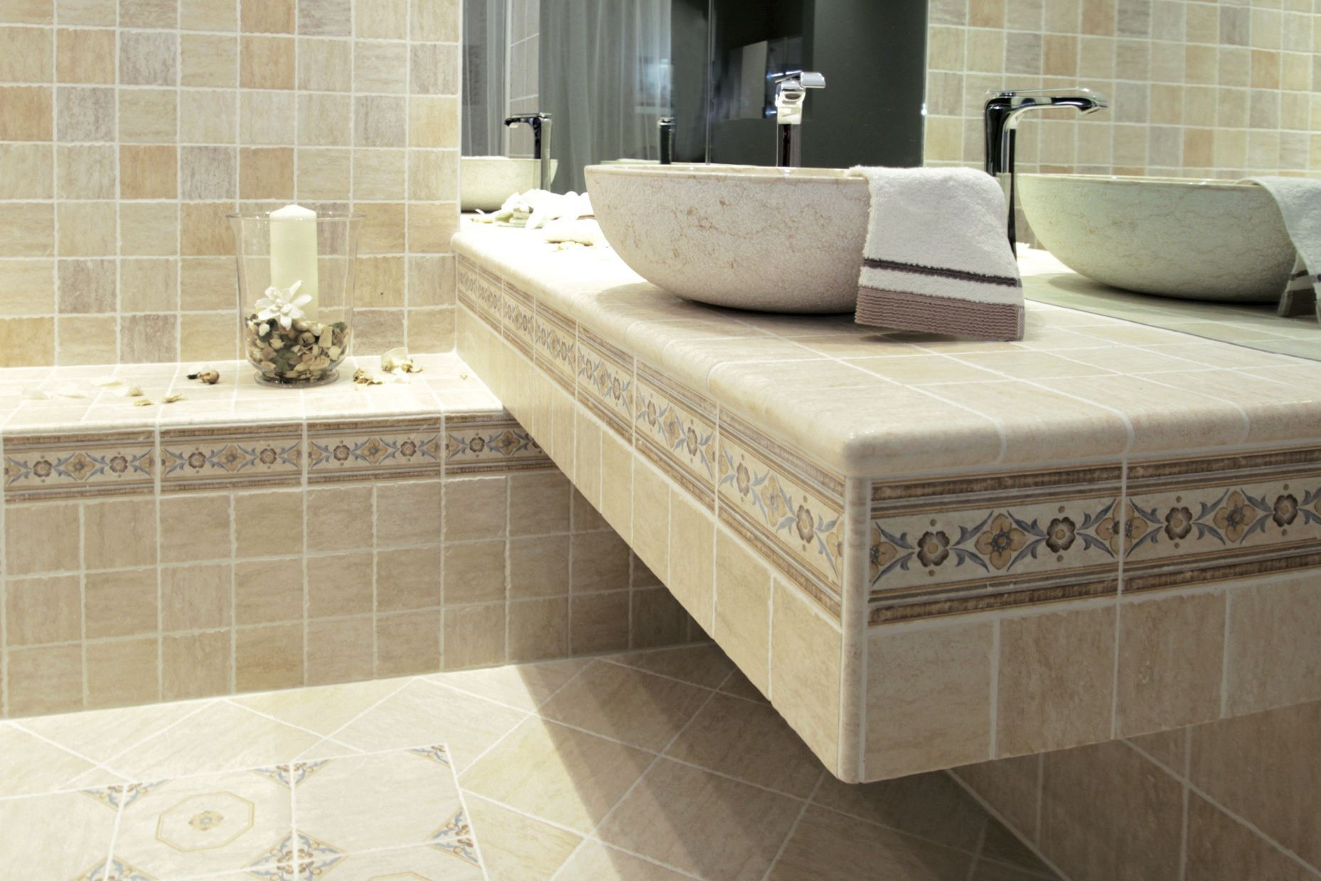 Bathroom tile / floor / wall / ceramic - GIOIELLI : FLORENTIA ...