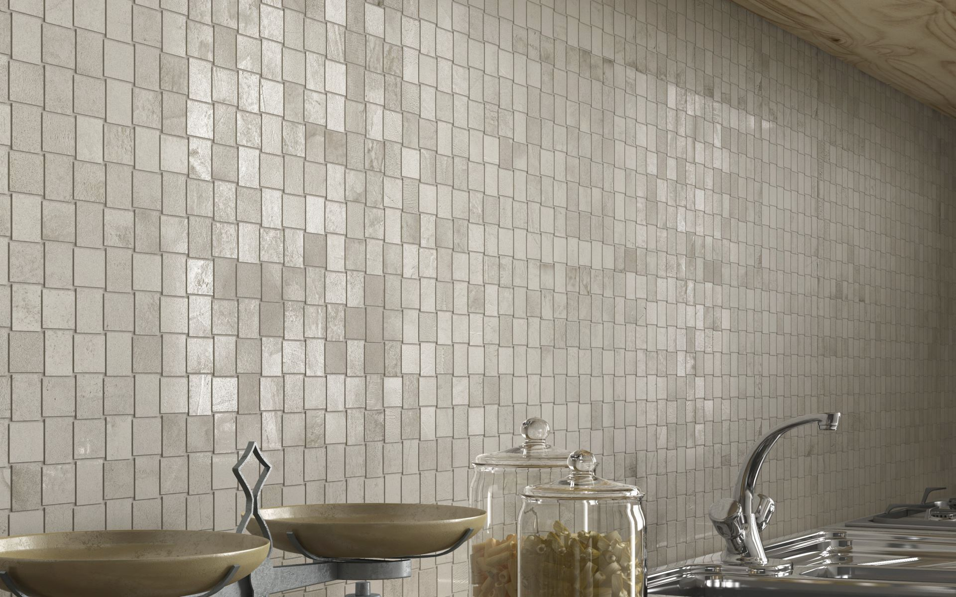 Indoor tile / kitchen / wall / porcelain stoneware - RES COVER ...
