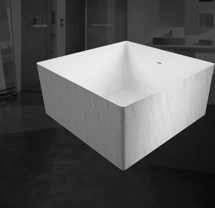 Free-standing bathtub / square / acrylic - MYWATER - COLACRIL
