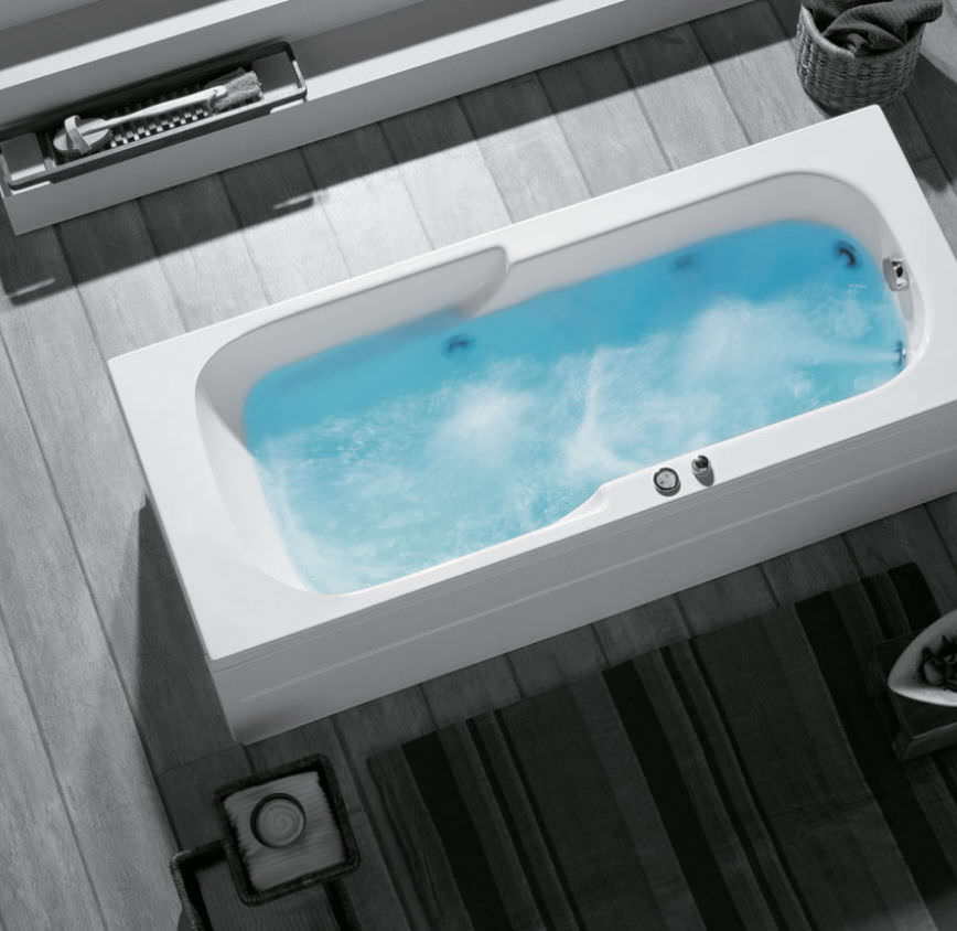 Free-standing bathtub / acrylic / whirlpool - CLASSIC: ASTRA by ...