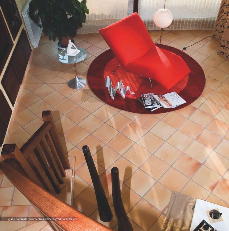 Indoor Tile Floor Terracotta Flamed Giallo Fiammato