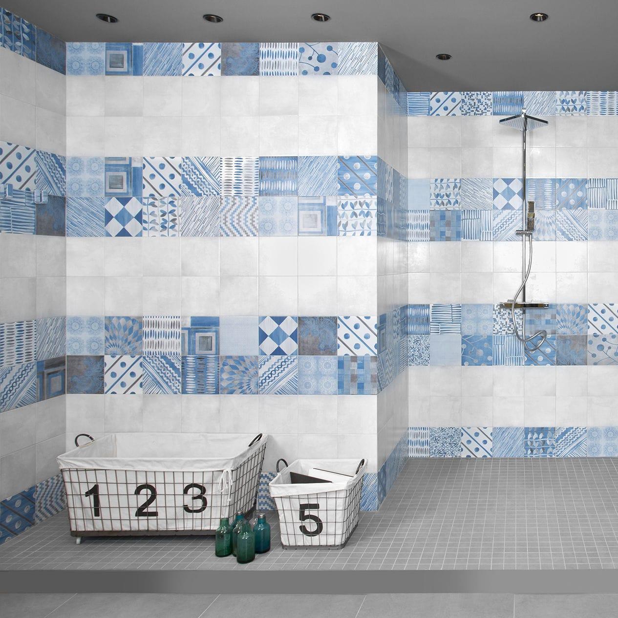Indoor tile / wall / porcelain stoneware / patterned - PL PORTLAND ...