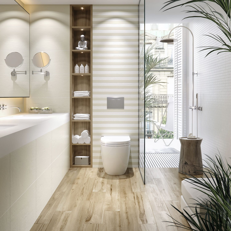 Bathroom tile / kitchen / wall / porcelain stoneware - MUNDI - DOMINO