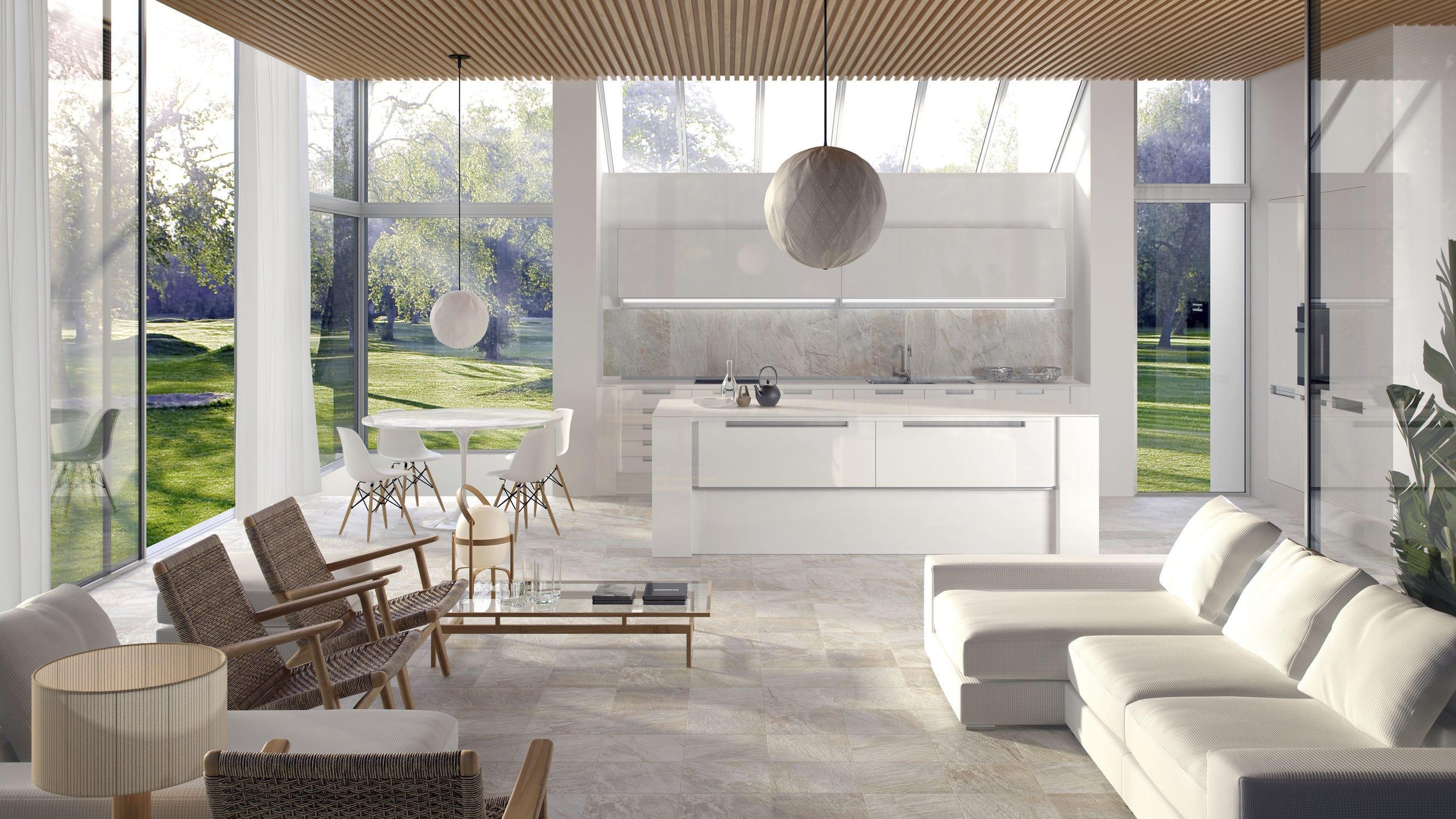 Living room tile / outdoor / floor / porcelain stoneware - GARLAND ...