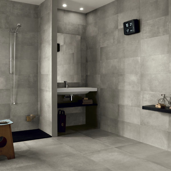 Indoor Tile Bathroom Floor Wall Stream