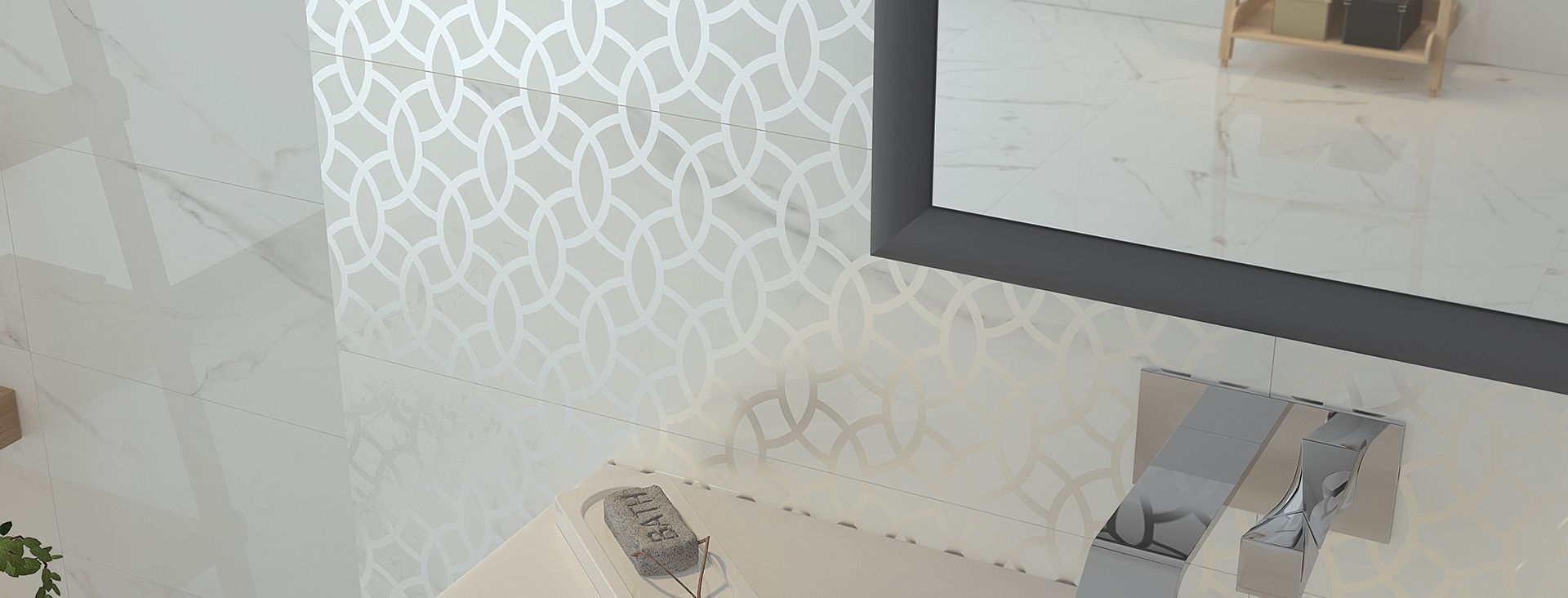 Bathroom tile / wall / for floors / ceramic - MARMO CALACATTA ...