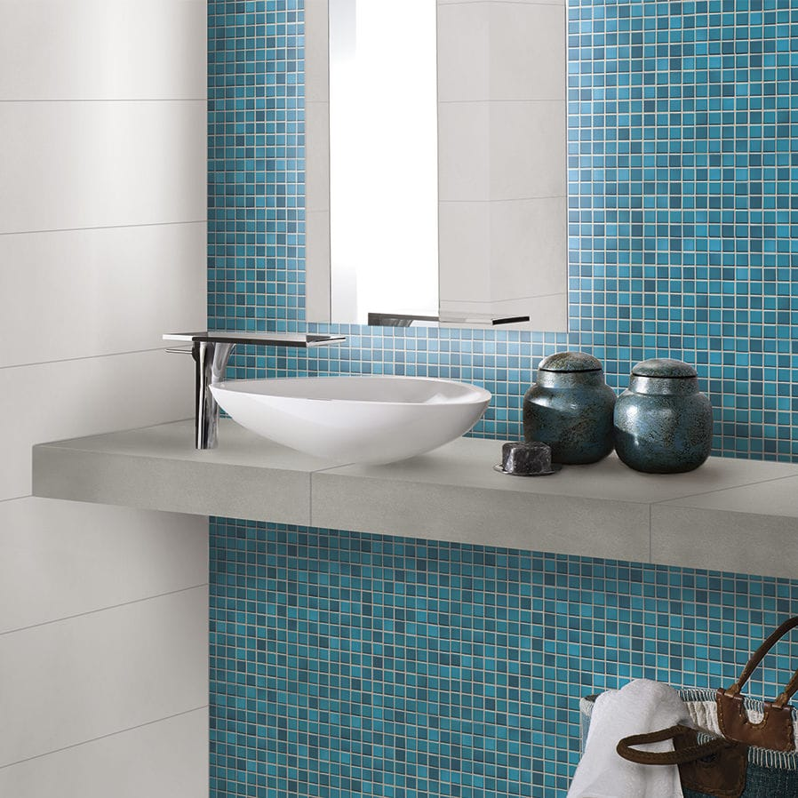 Bathroom mosaic tile / wall / floor / porcelain stoneware - FRESH ...