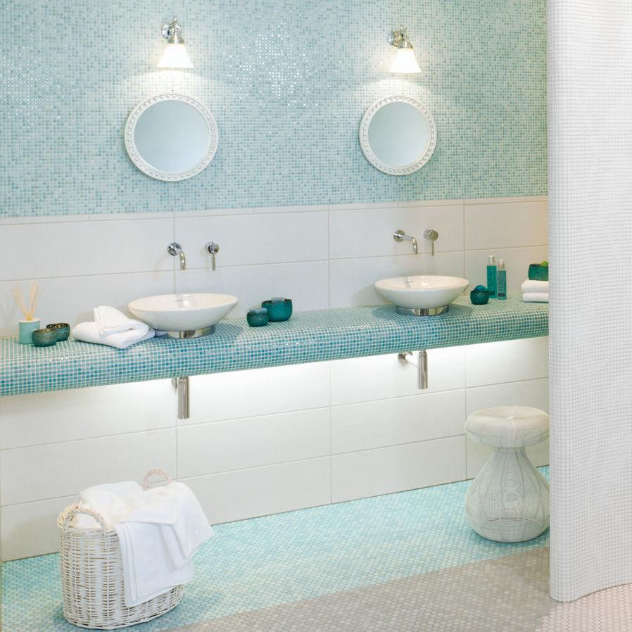 Bathroom mosaic tile / kitchen / living room / wall - LOOP : LIGHT ...