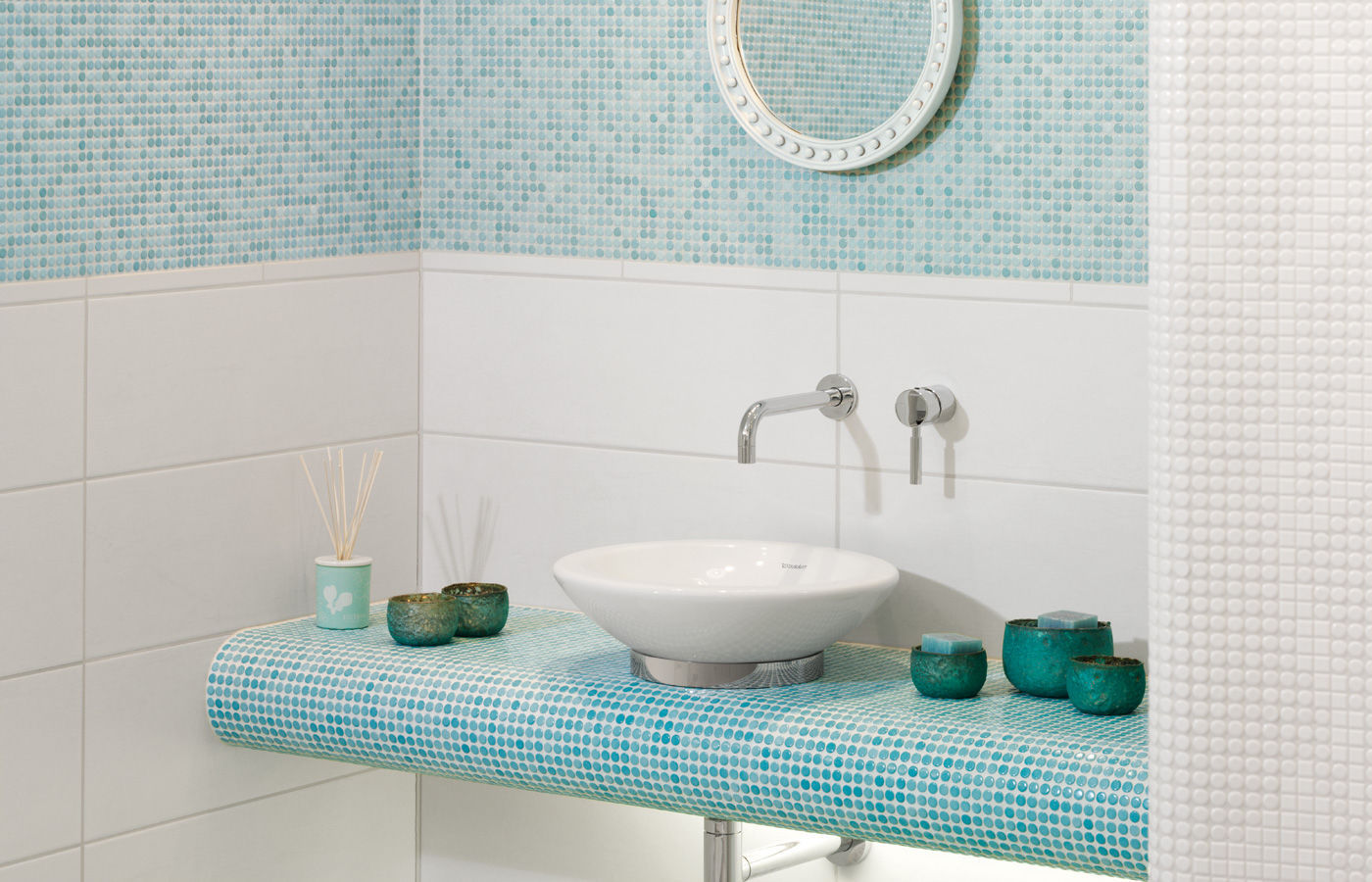 Bathroom mosaic tile / kitchen / living room / wall - LOOP : LIGHT ...