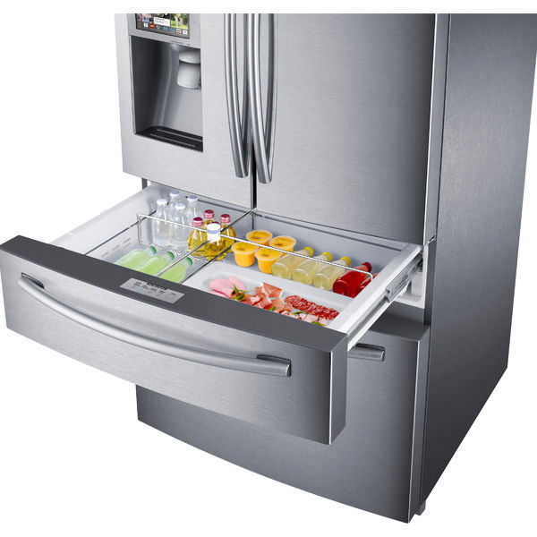Residential refrigerator-freezer / American / stainless steel ...