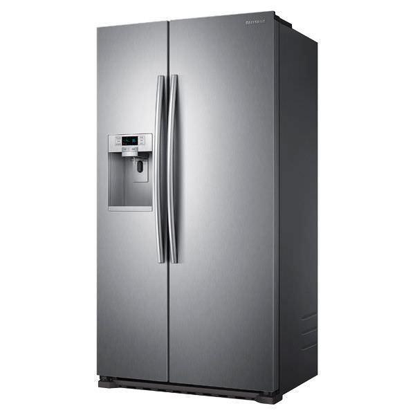 American refrigerator / gray / energy-efficient / Energy Star ...