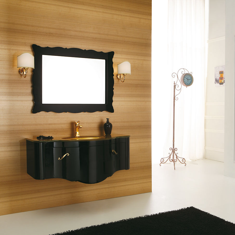 Beautiful Wall Hung Washbasin Cabinet / Wooden / Glass / Traditional   DECÒ: D05 Good Looking