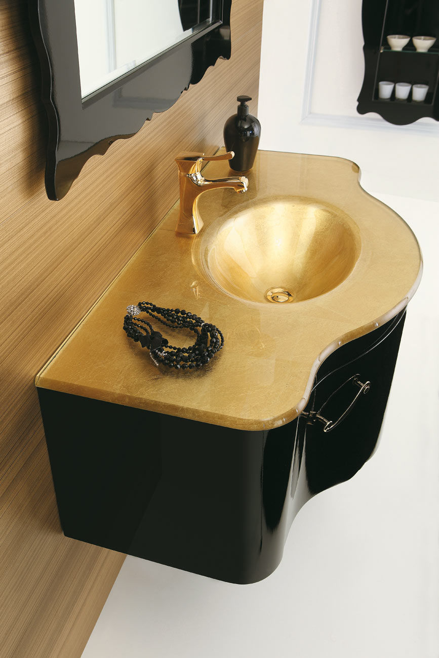 ... Wall Hung Washbasin Cabinet / Wooden / Glass / Traditional DECÒ: D05  LEGNOBAGNO ...
