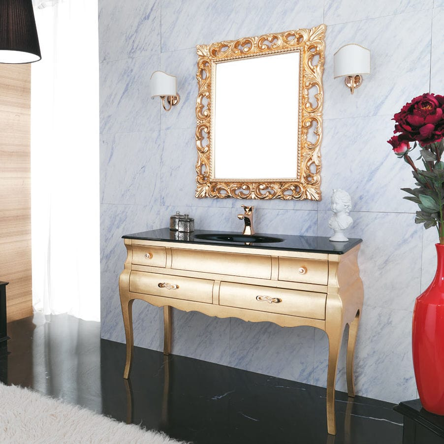 Lovely Free Standing Washbasin Cabinet / Walnut / Glass / Traditional   VOGUE: 04 Amazing Design