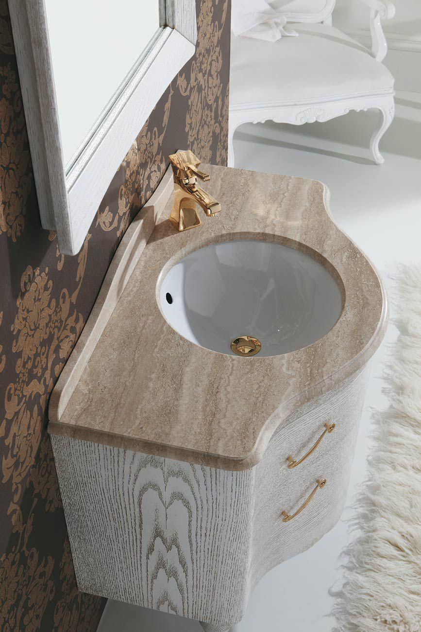 Free Standing Washbasin Cabinet / Wooden / Marble / Travertine DECÒ: D08  LEGNOBAGNO ...