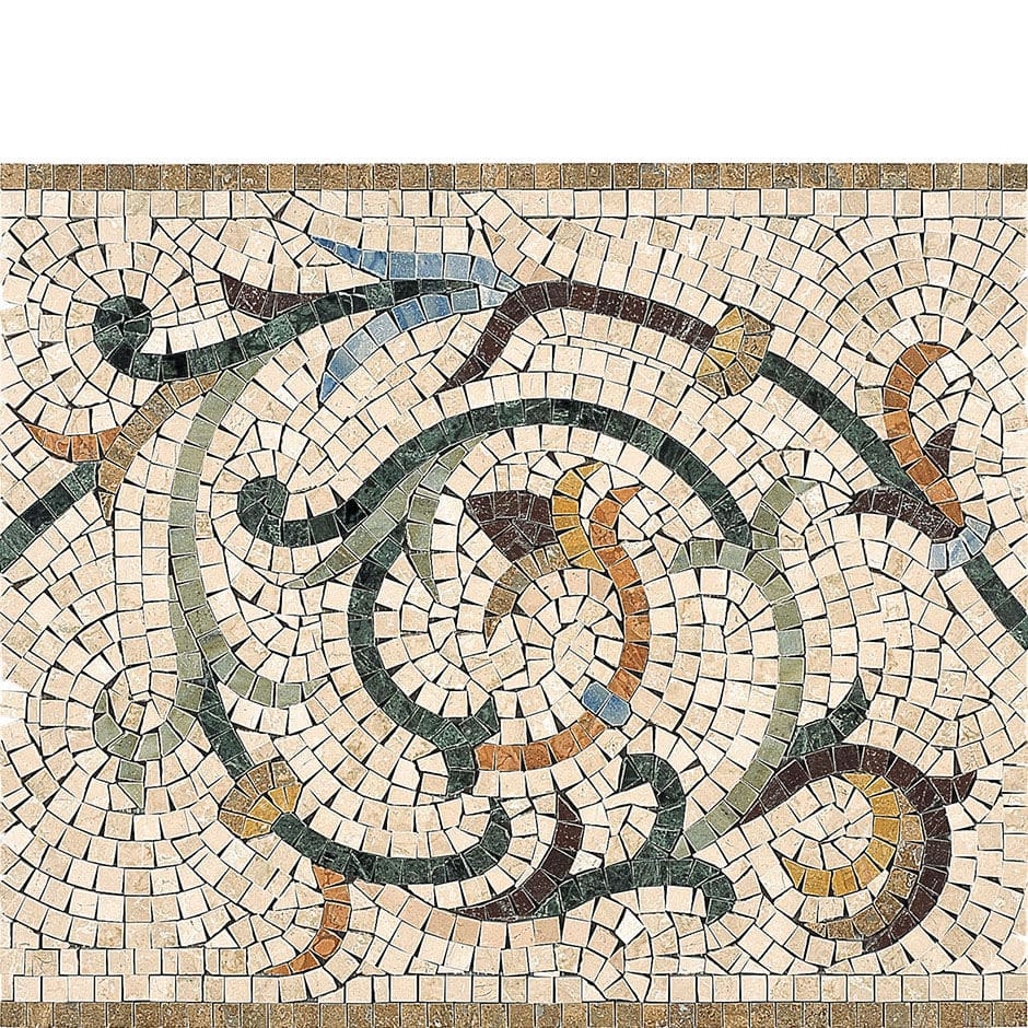 ... Mosaic Border Tile / Marble / Wall Mounted / For Floors ARTISTIC :  GRECHE ARTISTICHE