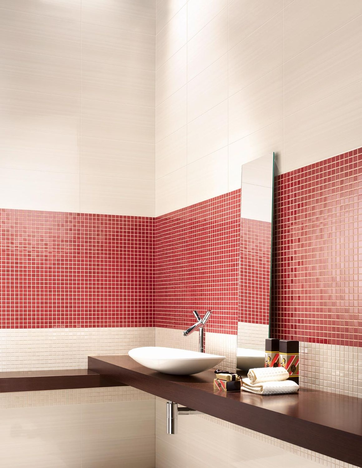 Indoor Mosaic Tile Wall Ceramic Textured Dreams Love