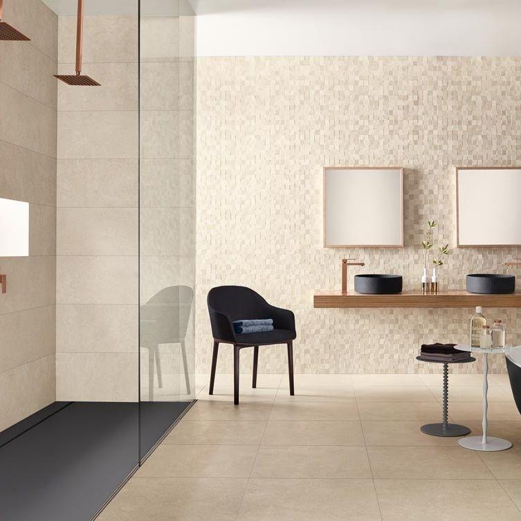 Indoor tile / floor / porcelain stoneware / matte - NEST - LOVE ...
