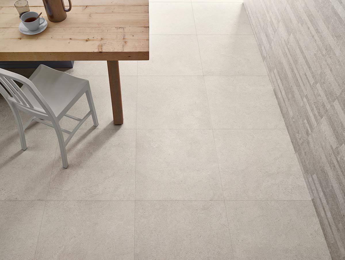 Kitchen Laminate Flooring Tile Effect Floor Tile Porcelain Stoneware Matte White Nest Love