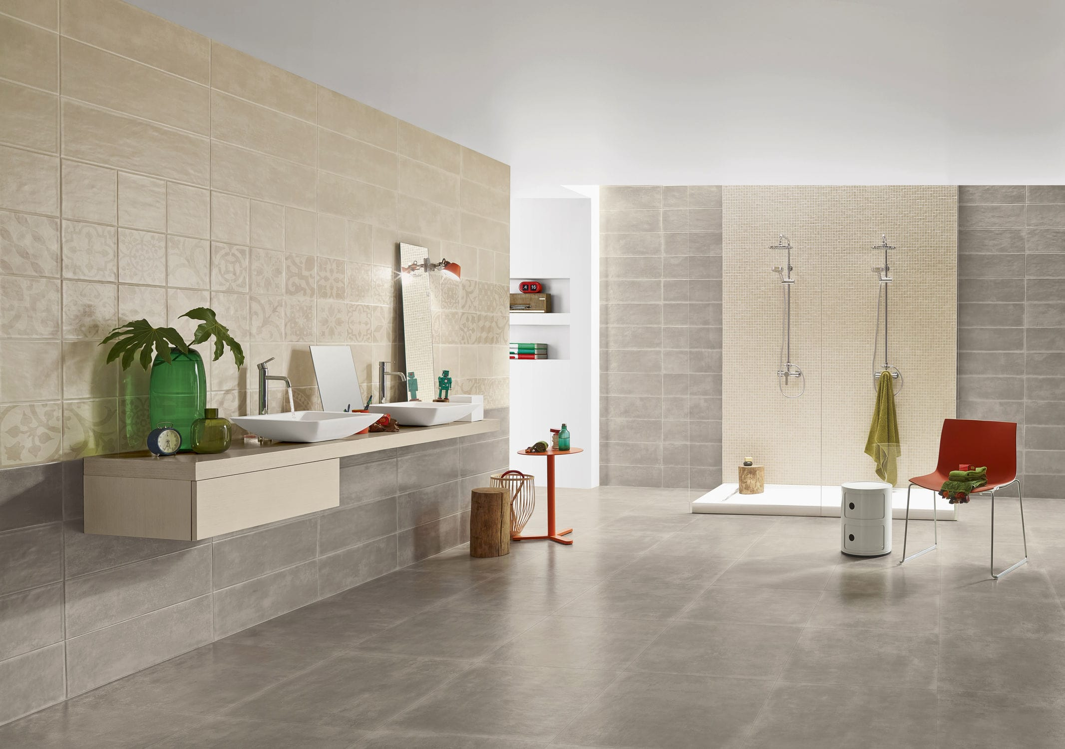 Indoor tile / floor / porcelain stoneware / satin - GROUND - LOVE ...