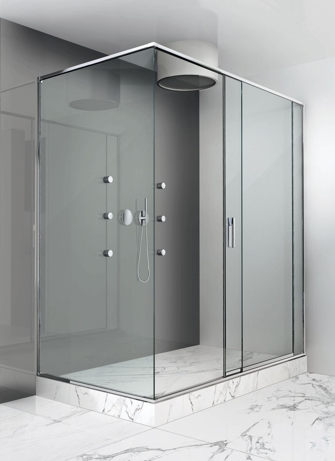 Sliding shower screen - Sliding Shower Screen For Alcoves Corner Slide