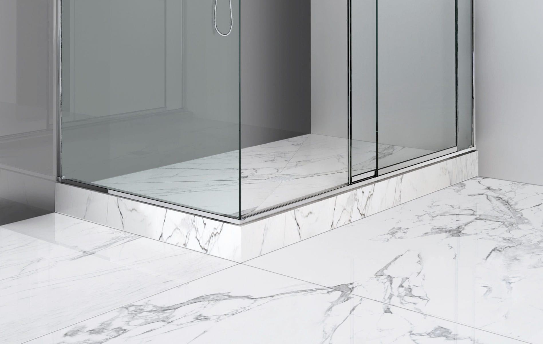 rectangular shower base porcelain resin corian pluvio pst makro