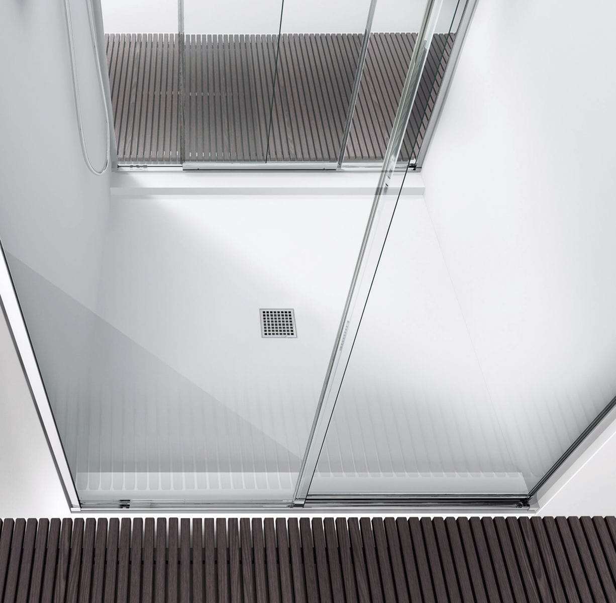 Rectangular Shower Base / Polystyrene / Corian® / Flush   FIX