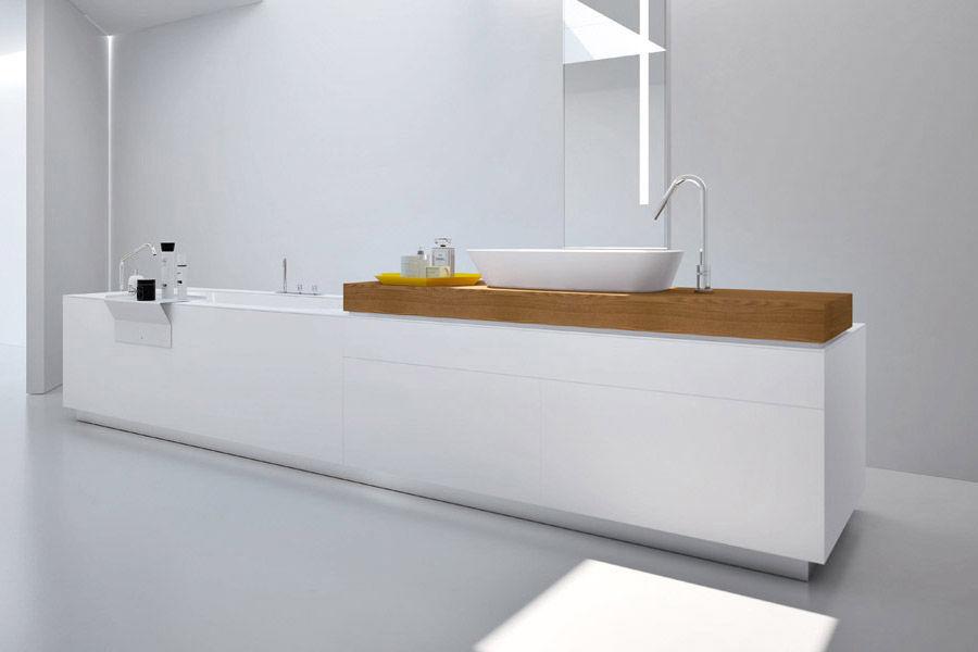 Corian® bathtub / marble / wooden / glass - BATHTUB – WASHBASIN ...