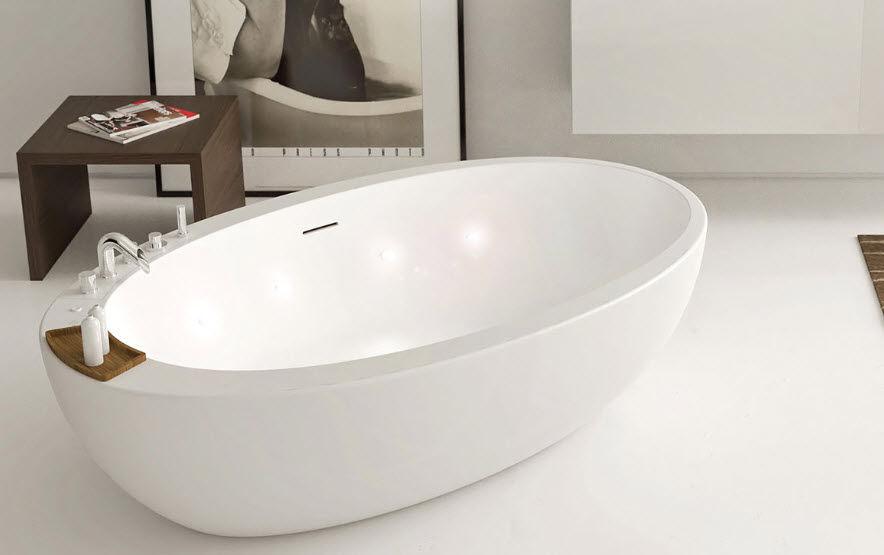 Vasca Da Bagno Freestanding Corian : Free standing bathtub oval corian elitechnic moma design