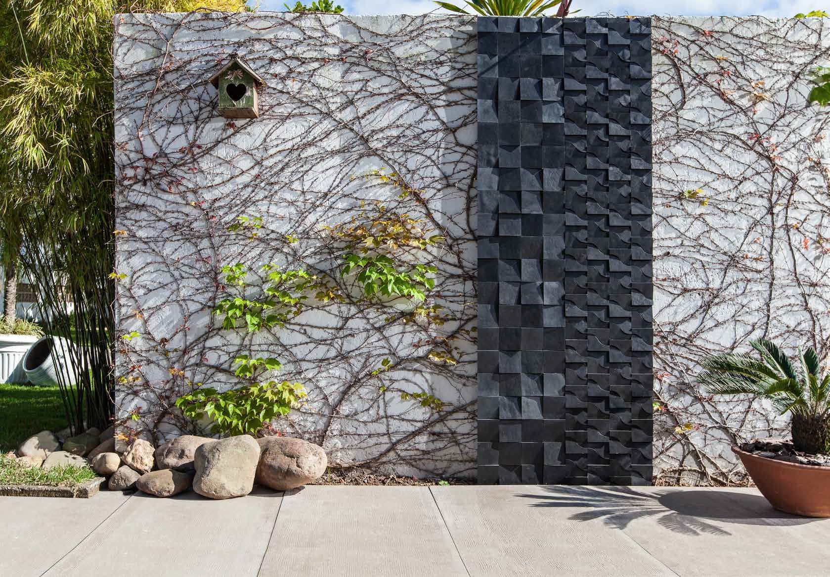 Natural Stone Wall Cladding Panel Exterior Kaleidos Box Preto