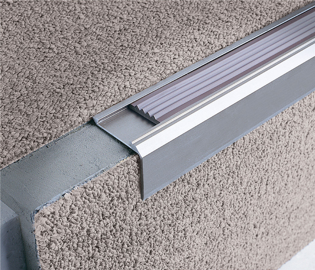 Stair Nosing Rubber Vinyl Metal Source Br Stairtec Sm 14 28 Profilitec