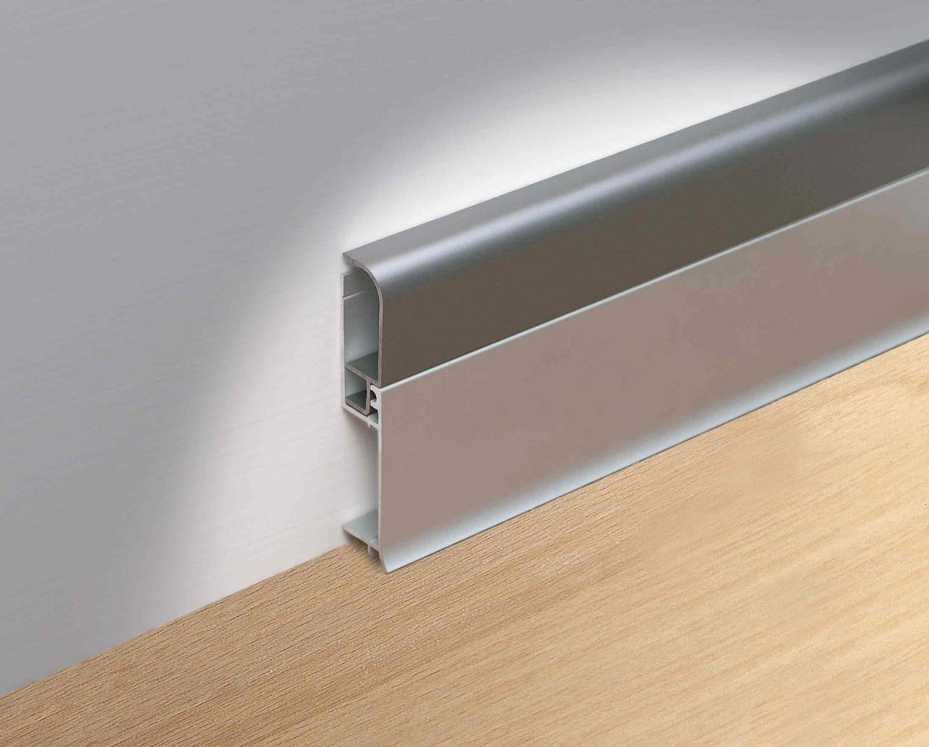 Aluminum baseboard for electrical wiring
