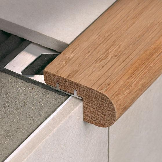 Wooden Stair Nosing / Aluminum   STAIRTEC FW