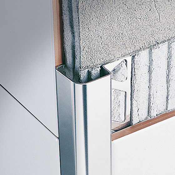 Stainless Steel Edge Trim For Tiles Outside Corner ROUNDCORNER - Corner bead for ceramic tiles