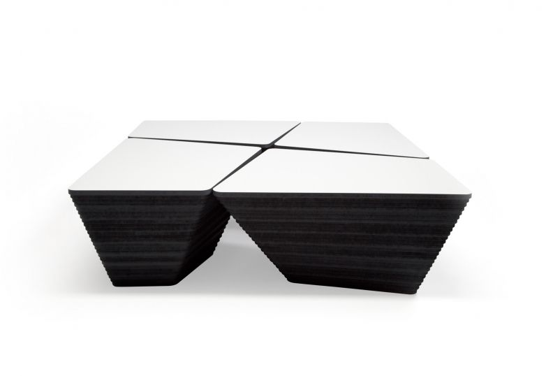 Dutch Design Online Contemporary Coffee Table Wooden Square Stone By Kees Marcelis Odesi