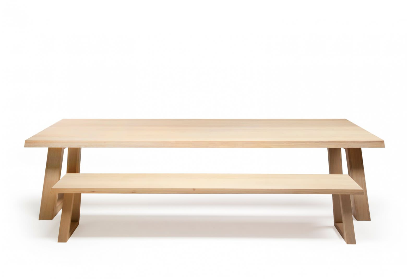 Contemporary Bench / Wooden SLIDE By Remy Meijers Odesi.