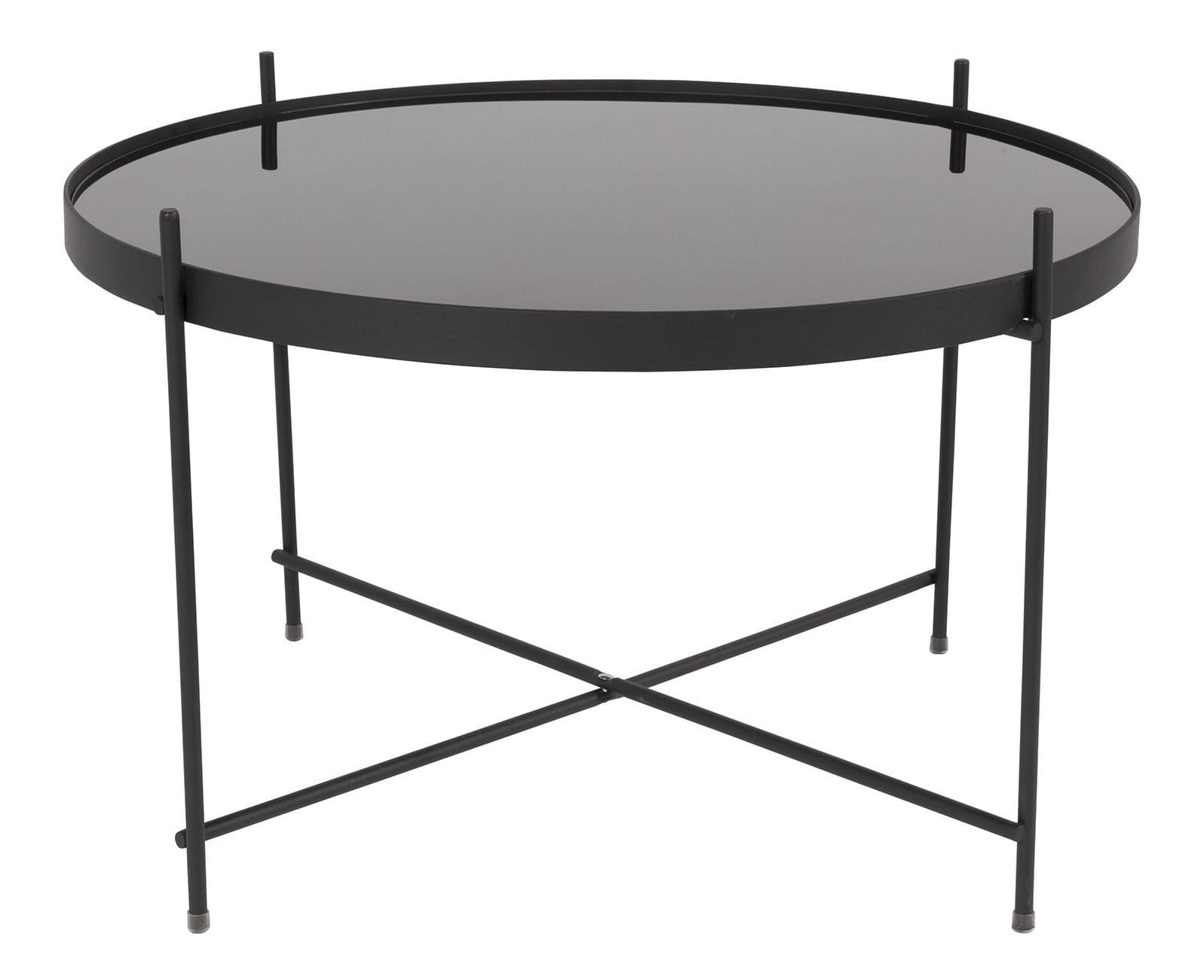 contemporary coffee table / glass / iron / round - cupid - zuiver