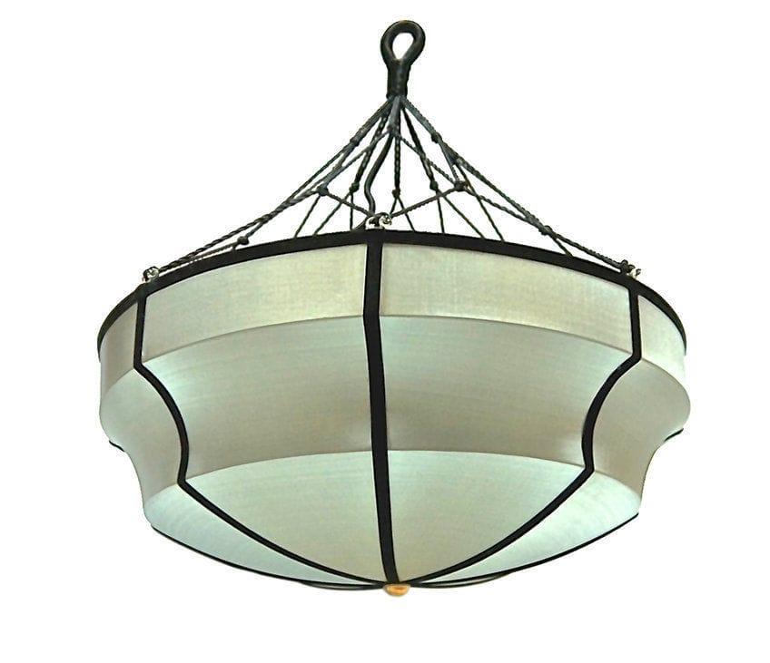 Pendant lamp contemporary silk