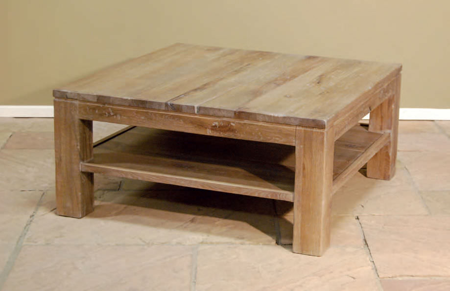 Contemporary Coffee Table Wooden Square Toulouse