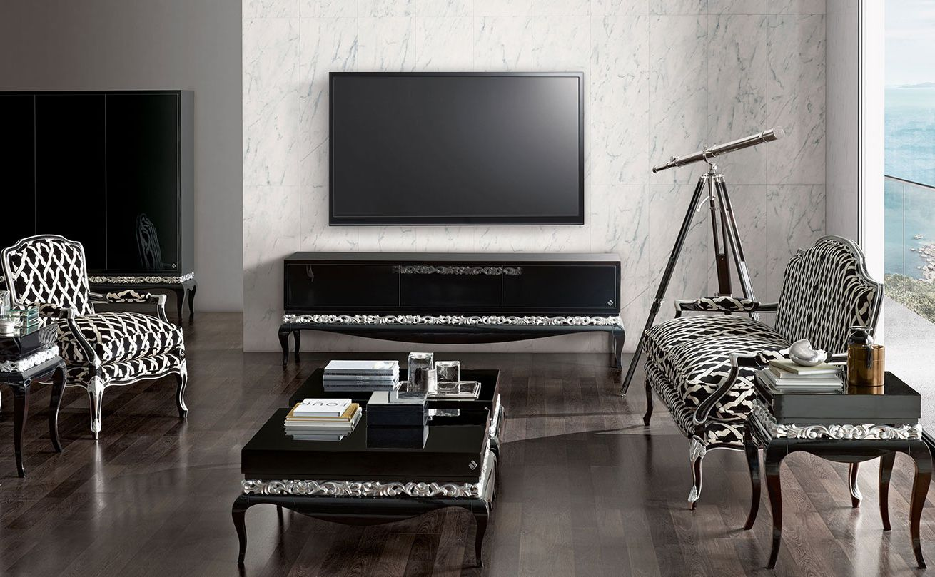 new baroque design tv cabinet / wooden - luxus - jetclass - real ... - Meubles Baroques Design
