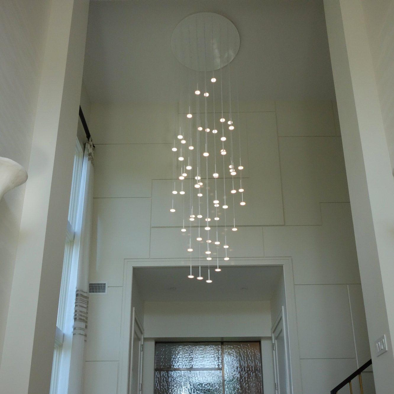 contemporary chandelier / glass / brass / nickel - I.RAIN 37 by Thierry Gaugain & Contemporary chandelier / glass / brass / nickel - I.RAIN 37 by ...