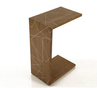 Contemporary Side Table / Wooden / Rectangular   C