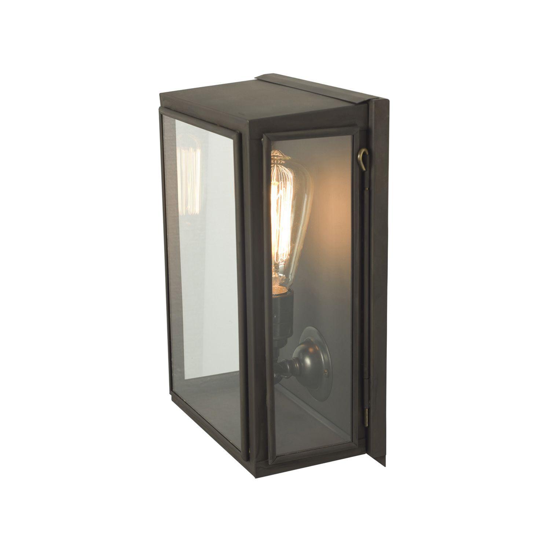 contemporary wall light outdoor glass brass box original