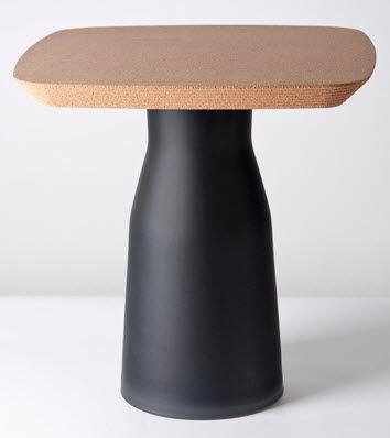 Original Design Side Table / Glass / Cork / Square   PLUG By Tomas Kral Part 9