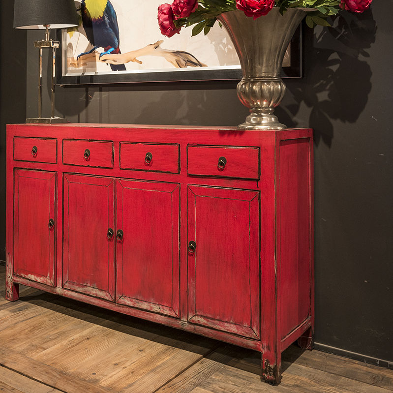 Traditional sideboard / wooden / white / red - SONG - Traditional Sideboard / Wooden / White / Red - SONG - RICHMOND