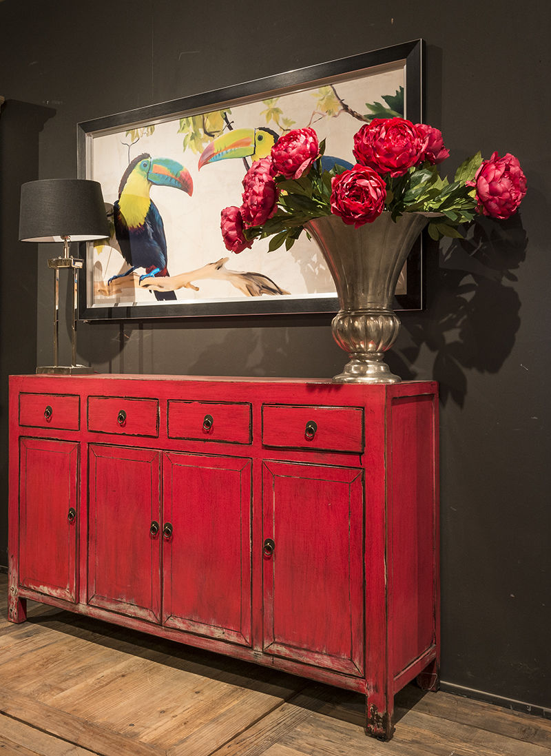 Traditional sideboard / wooden / white / red SONG RICHMOND INTERIORS ... - Traditional Sideboard / Wooden / White / Red - SONG - RICHMOND