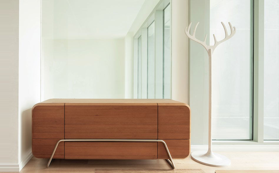 Floor Coat Rack Original Design Teak ANTLER PLATO Stunning Design Coat Rack
