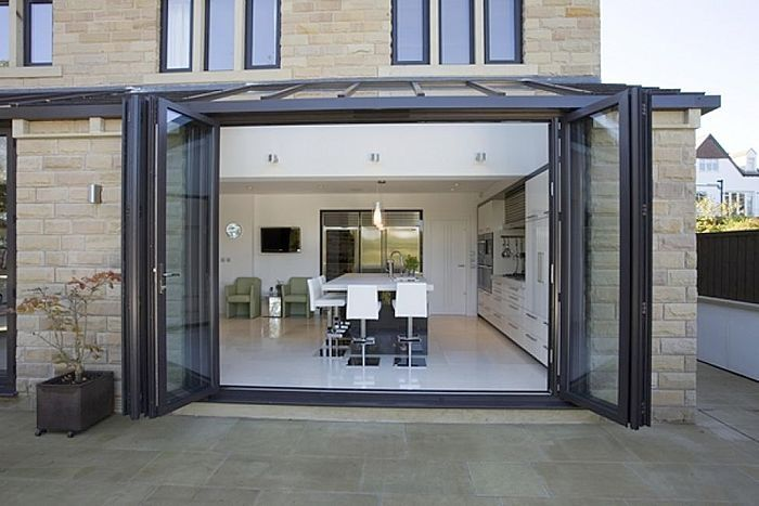 Sliding And Stacking Patio Door / Folding / Aluminum / Double Glazed   BI  FOLDING